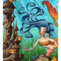 Underwater Mermaid Scene