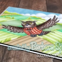 Forest Friends Orlando Owl from Little Miss Muffet Stamps